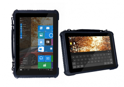 Rugged 10 inch tablet with Windows 10 OS