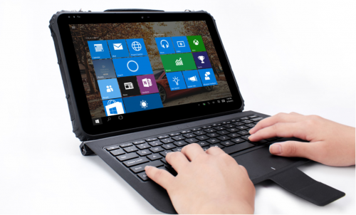 12 inch rugged notebook with Windows 10 OS