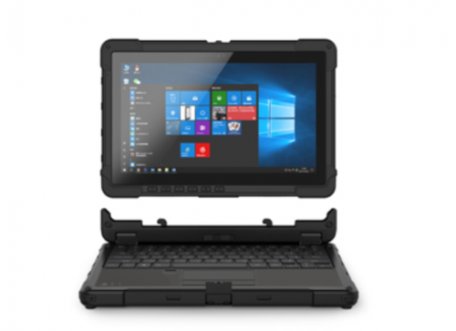 Rugged notebook with Windows 10 OS